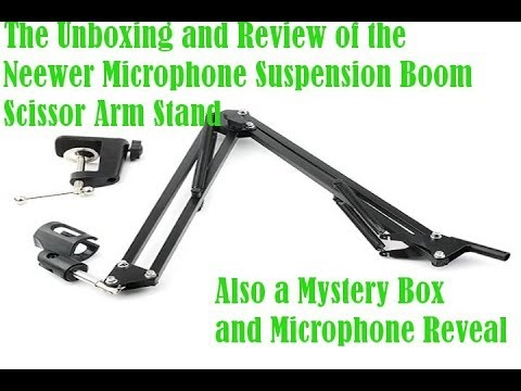 Unboxing and Review of Neewer Scissor Boom Microphone Stand