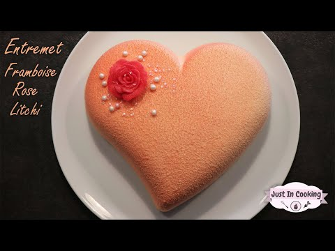 ♡-recette-d'entremets-cœur-framboise-rose-litchi-pour-la-saint-valentin-♡