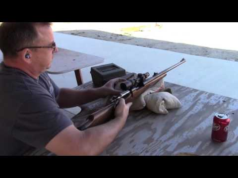 Shooting the 375 H&H cartridge (with size comparison to 5.56 round)