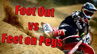 Foot Out vs Feet on Pegs Through Corners: What's Faster?