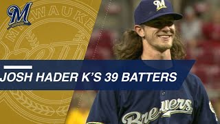 Hader strikes out 39 in first 18 innings of 2018