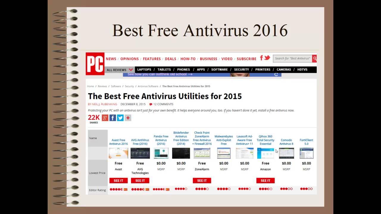 editors choice best free antivirus