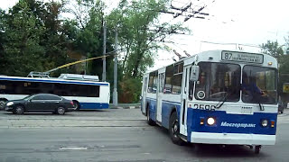 Trackless Trolleys (Trolleybuses) in Moscow, Russia