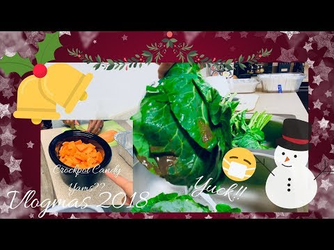 Cleaning Collard Greens & Prepping Candy Yams| And Oh Yeah,  I Called Corporate!|Vlogmas Day 24