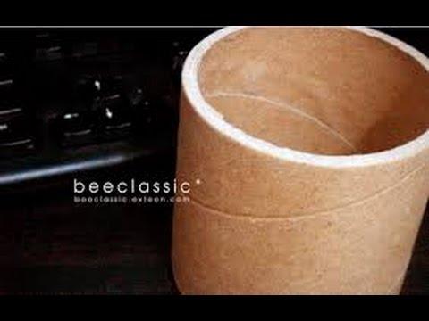 สิ่งประดิษฐ์เหลือใช้จากแกนกระดาษ