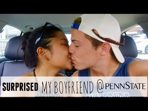 I SURPRISED MY BOYFRIEND At PENN STATE!