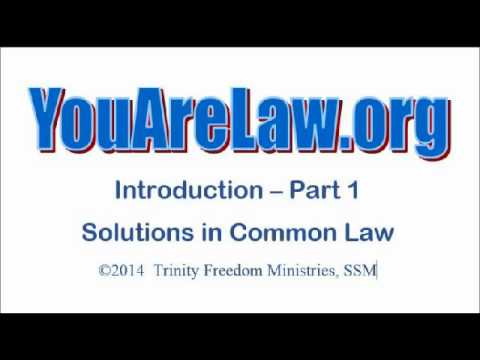 1- YouAreLaw.org - Solutions in Common Law