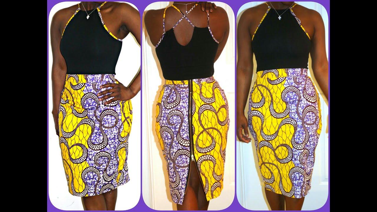 Part 1of 2 Pintrest Diy Zipper Back Pencil Skirt With