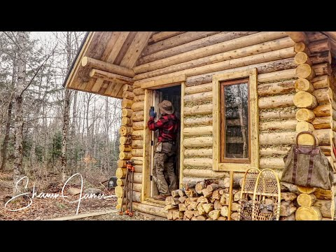 Making and Installing Door on the Cabin | How to Build a Log Cabin, Ep6