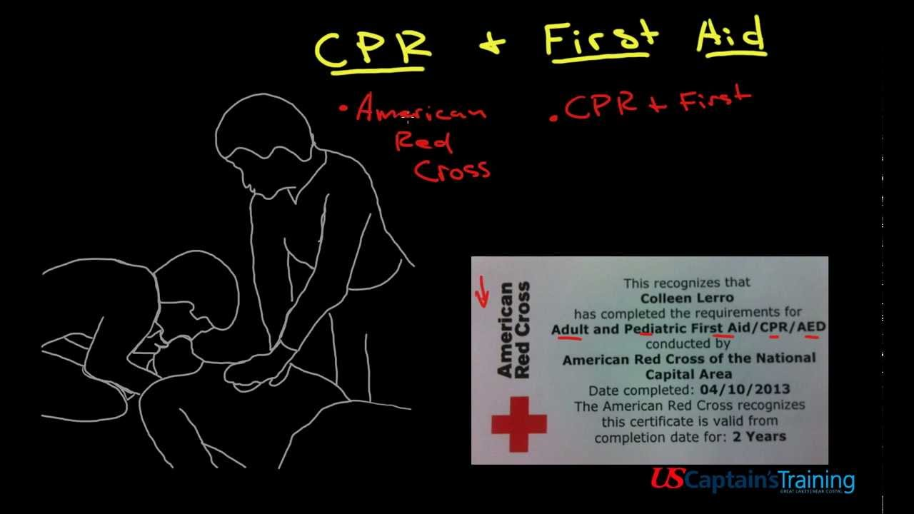Captain License Cpr First Aid Youtube
