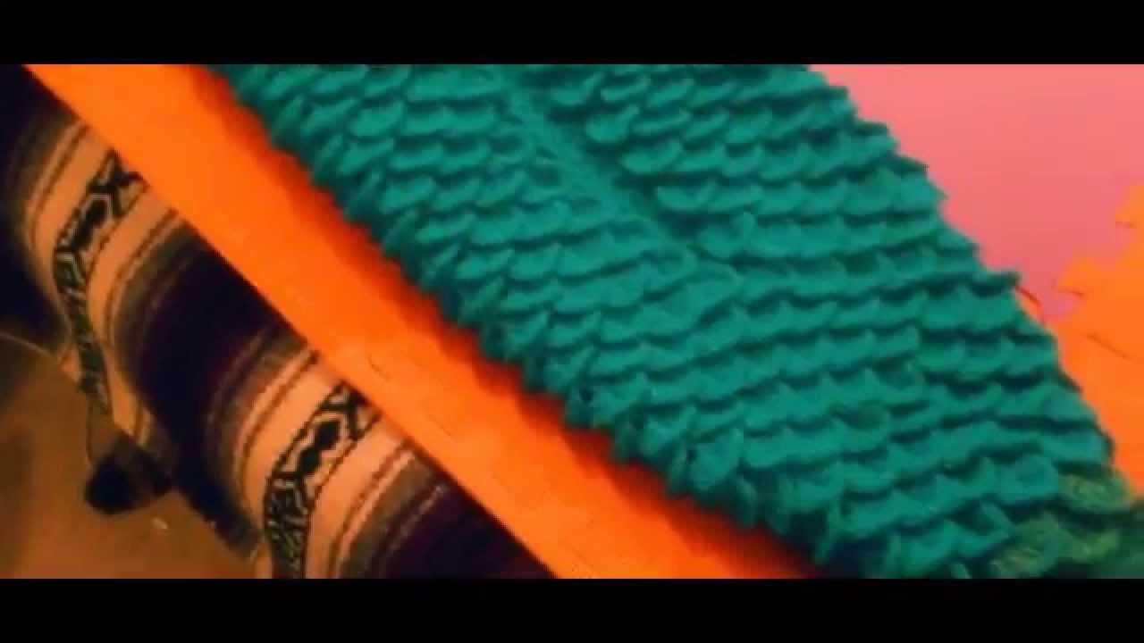 Completed Crochet Mermaid Blanket - YouTube