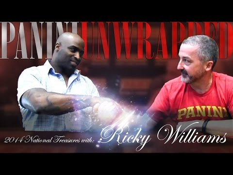 Ricky Williams, National Treasures Football Star in Special Panini Unwrapped Episode