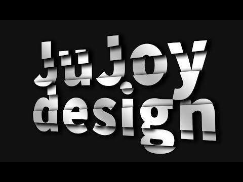 Cut Typography text design in Photoshop tutorial