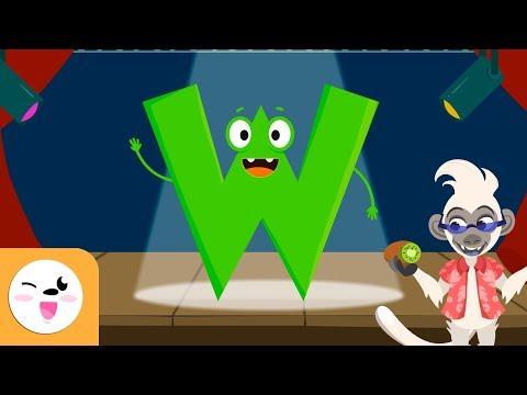 Aprende la letra W con la canción de Willy el Hawaiano - El abecedario