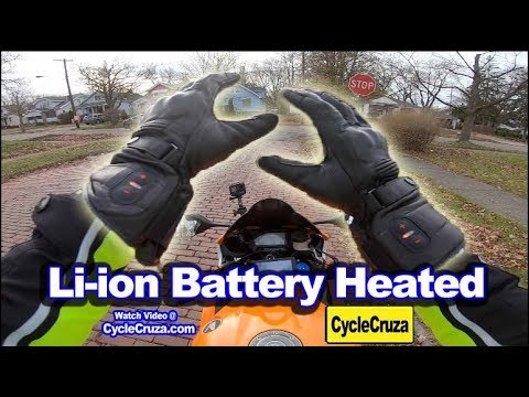 Motorcycle Battery Heated Gloves Review   Winter Motorcycle Gear