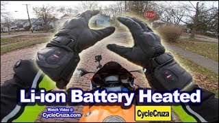 Motorcycle Battery Heated Gloves Review | Winter Motorcycle Gear