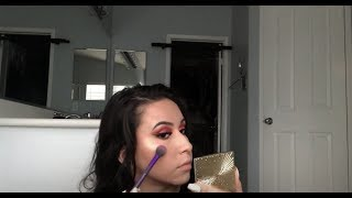 Pink Glitter Cut Crease W/ Bold Lip | Dramatic Valentine's Day Makeup Tutorial | Acpeezy