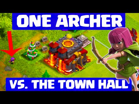 Clash of Clans ♦ ONE Archer Versus a Town Hall! ♦ CoC ♦