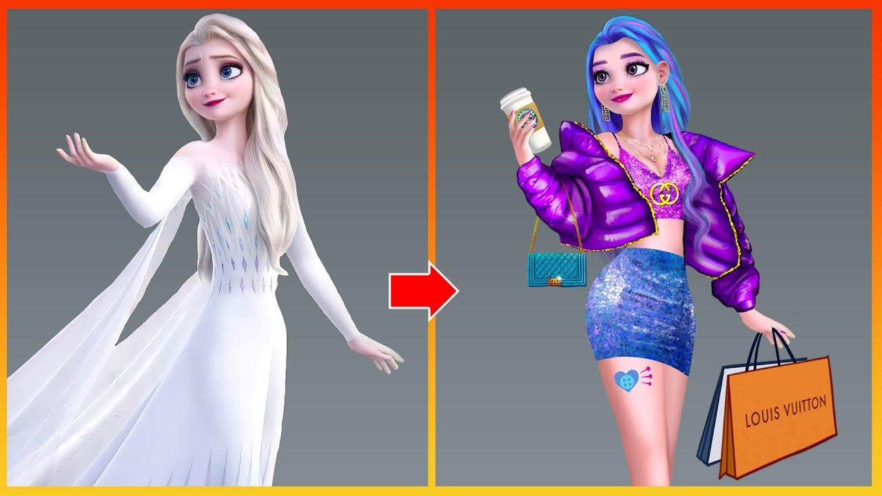 Elsa Frozen Glow Up As My Little Pony   Disney Princess Glow Up Art Tiktok
