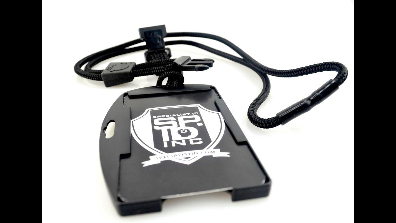 10942 Ek Black Lanyard W Dual Sided Smart Card Holder From Specialist Id You