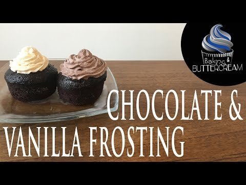 How To Make Chocolate & Vanilla Frosting Without Powdered Sugar!