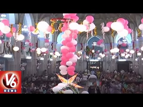 Churches In Hyderabad Braces Up For Christmas Celebrations | Special Report | V6 News