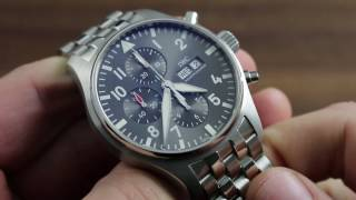 IWC Pilot's Watch Chronograph Spitfire IW3777-19 Showcase Review
