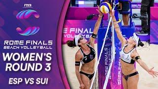 ESP vs. SUI | Women's Round 3 | Beach Volleyball World Tour Finals Rome 2019