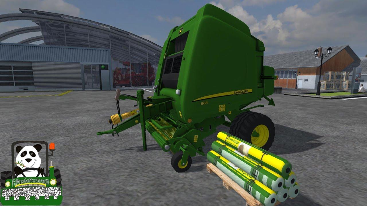 Farming simulator 2013 mod review john deere 864 premium v1 1baler youtube