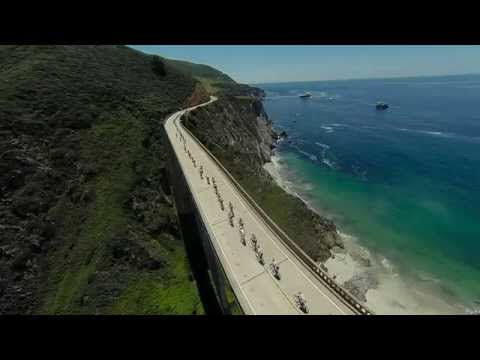 Amgen Tour of California Stage 4 crossing the Big Sur Bixby Bridge