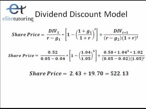 Dividend Discount Model and Discounted Free Cash Flow - YouTube