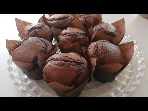 recette-rapide-de-muffins-au-chocolat-🍫|-les-vrais-muffins-américains---chocolate-muffins-recipe-🍫