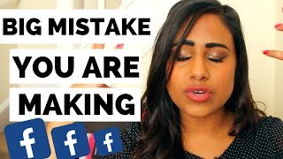 BIG MISTAKE you're making when promoting your Youtube Videos on Facebook | VEENA V