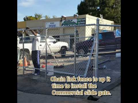 Industrial Chain Link Fence And Slide Gate Denver Youtube