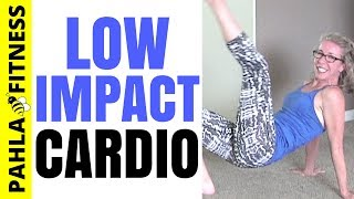 Progressive LOW IMPACT Cardio Endurance Workout | Burn Fat + Calories with No Equipment