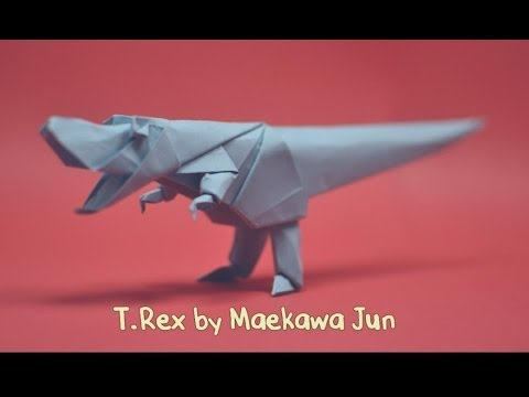 Origami Dinosaur - T-Rex 3D Head - YouTube | 360x480