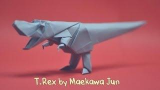 Origami T-Rex Dinosaur  by Maekawa Jun - Yakomoga Origami tutorial