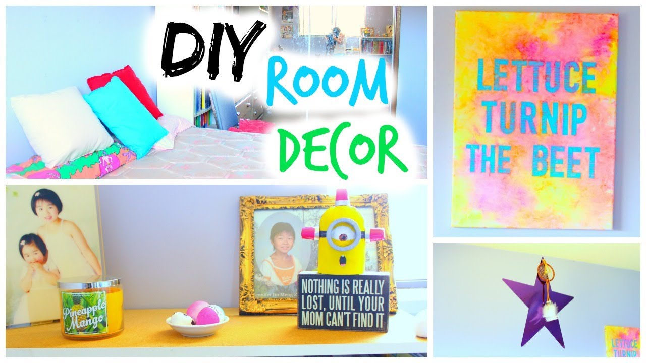 Diy room decor for summer youtube for Room decor ideas summer