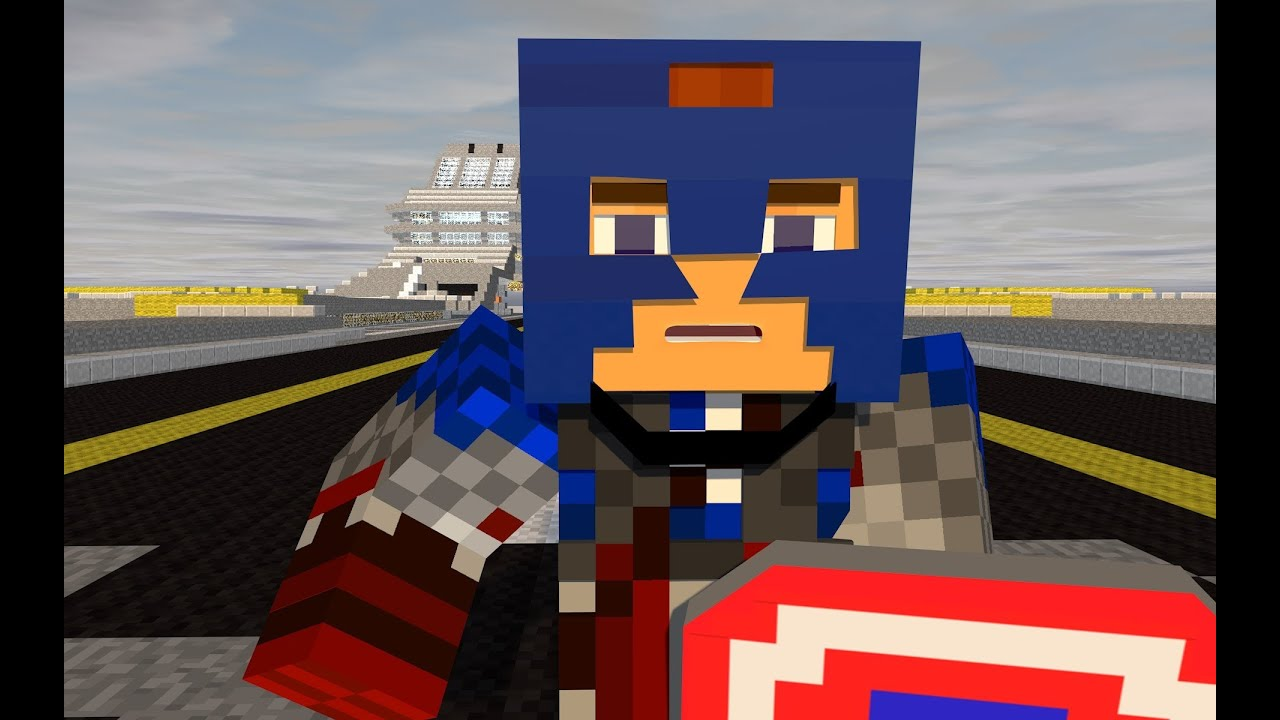 Captain America Vs Red Skull A Minecraft Animation YouTube