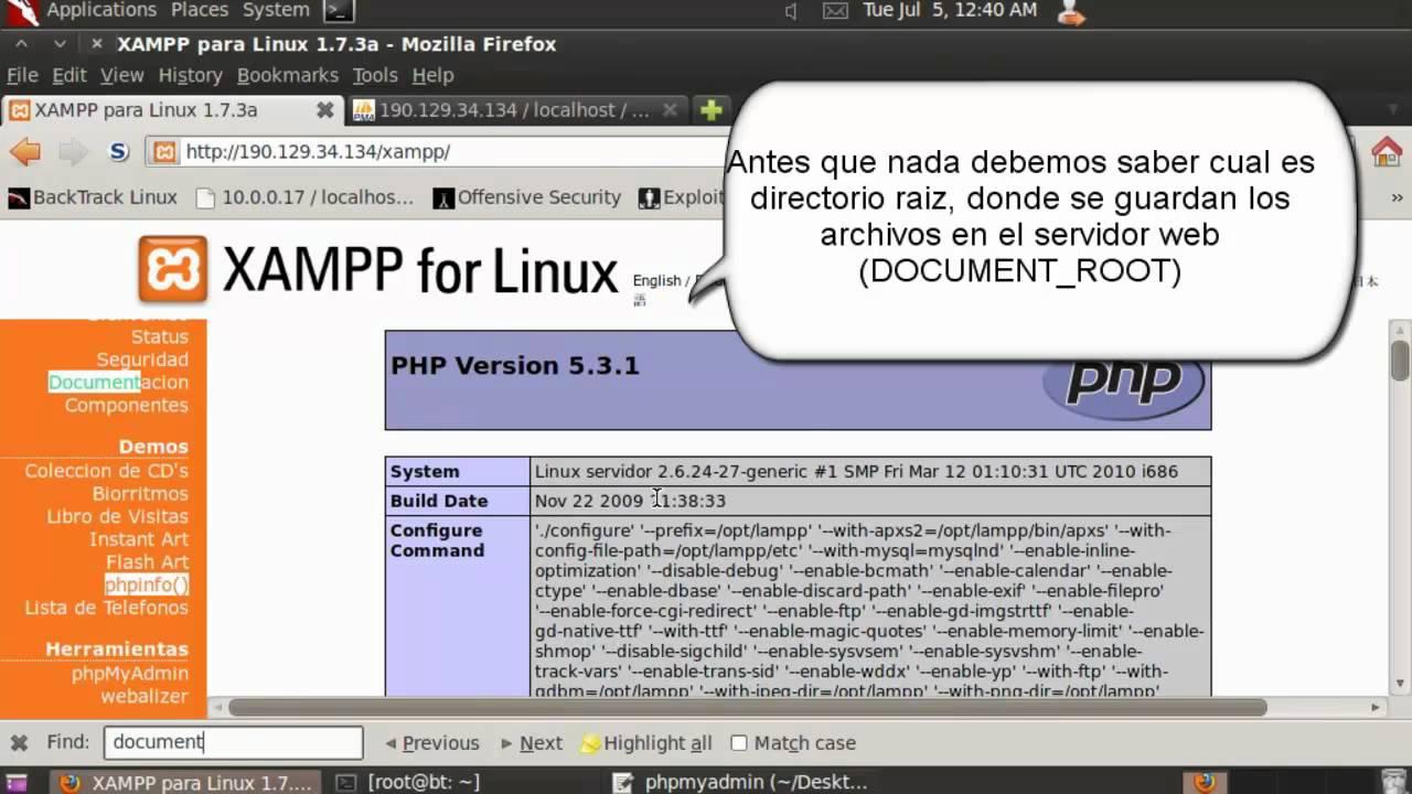 Phpmyadmin2016 - Inst Server Xampp Insegura Upload Shell 2016 11 25