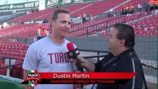 Dustin Martin 1B Toros Tijuana charla sobre homeruns con Pasion Deportiva BC