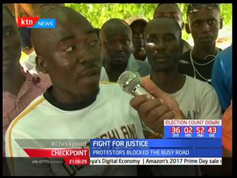 Kilifi residents demonstrate over the killing of a young man