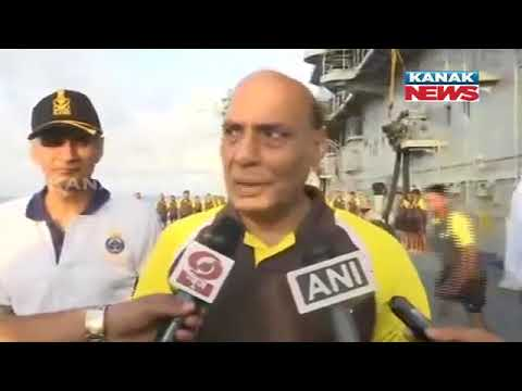 Rajnath Singh Onboard INS Vikramaditya, Practices Yoga With Security Personnel