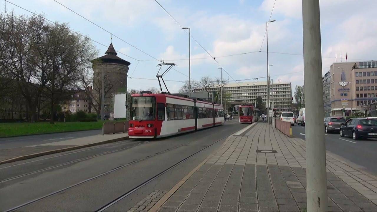 Nürenberg straßenbahn nürenberg vag siemens adtranz gt6n tram 3 april 2017