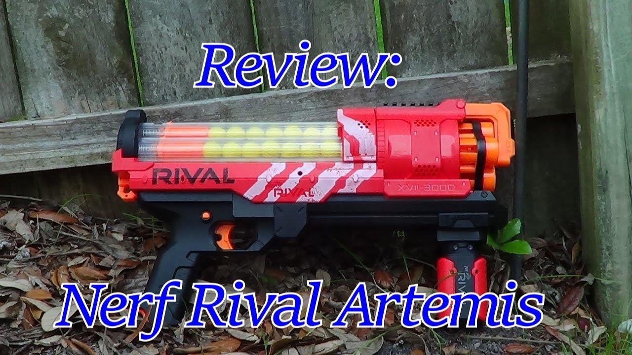 Nerf Rival Artemis XVII-3000 - Range Test (Stock) - YouTube