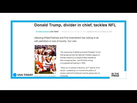 Donald Trump Vs NFL: America's divider in chief or America's saviour?