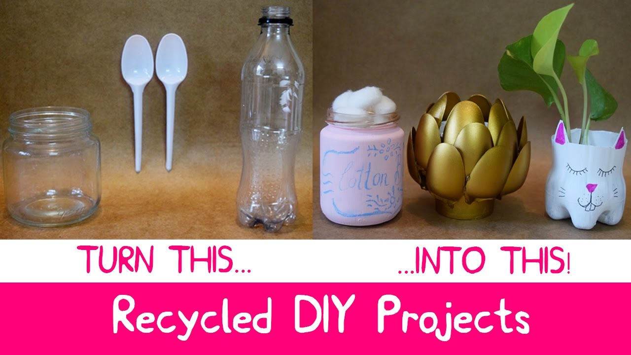 Diy room decor with recycled materials at home easy and for Home decor ideas from recycled materials