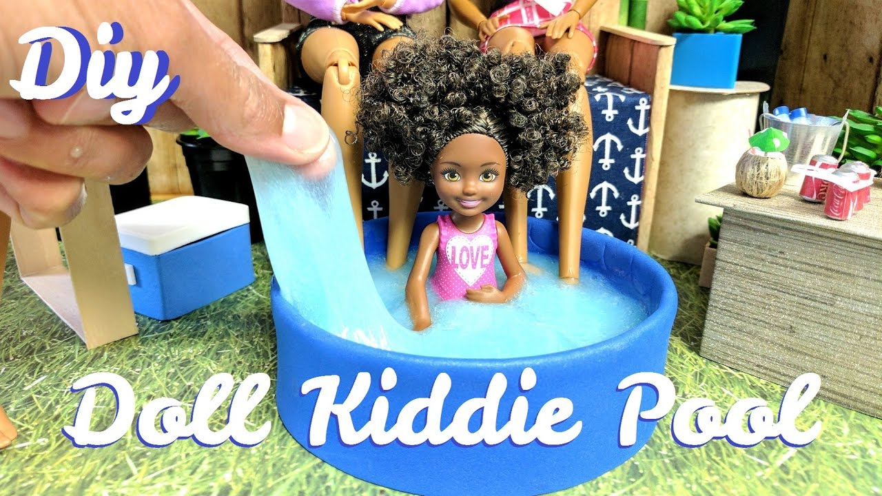How To Make A Doll Kiddie Pool With Slime Or Water Dollhouse Diy Youtube
