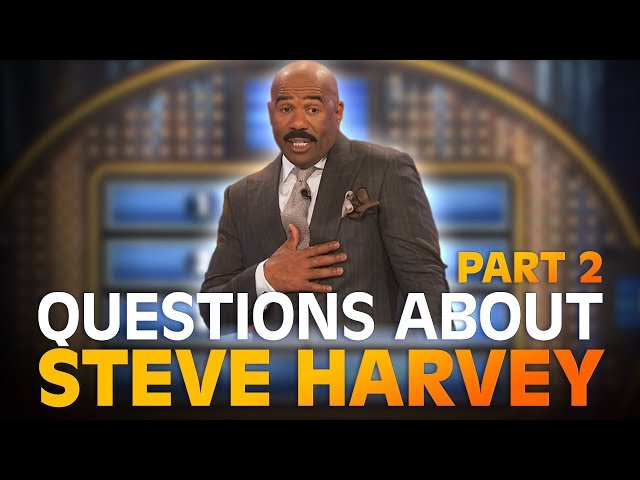 Funny Family Feud questions… about STEVE HARVEY! | Family Feud | PART 2