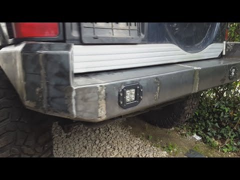 ***HOW TO MAKE CUSTOM OFF ROAD METAL REAR BUMPER(home made)🥇🎆🎇